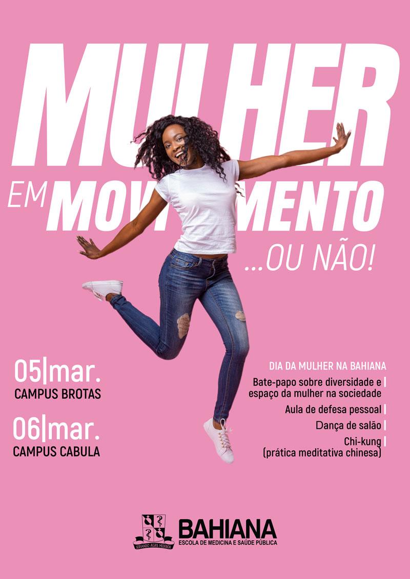 Cartaz Mulher em movimento ... ou não!